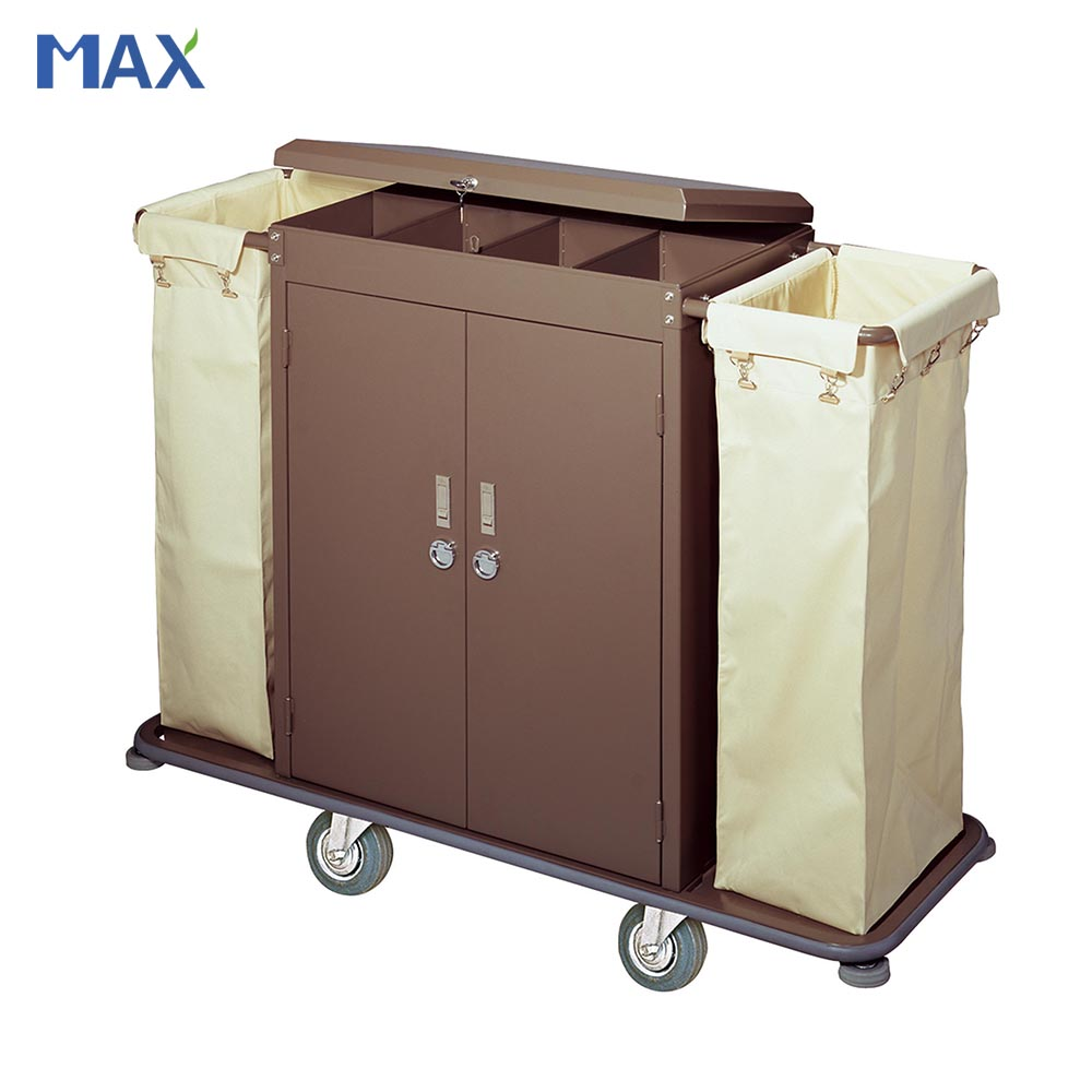 wheels metal hotel room service cart house keeping trolley