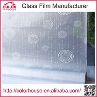 PVC privacy glass film wrought iron window decor adhesive with glue