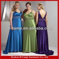 BD-223 Wide srtaps empire bodice sleek satin fat bridesmaid dress super plus size bridesmaid dresses