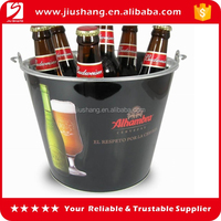 Promotional gift decorative thin metal ice bucket for wine