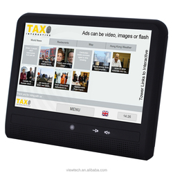 """10.1 """"taxi tv advertising update ads via 3g or wifi"""