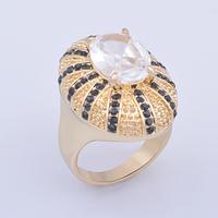 joyas de acero inoxidable alloy jewelry fashion Gold plated alloy rhinestone ring