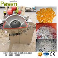 max size 15 mm cube vegetable fruit carrot lemon Papaya tomato cube cutting machine