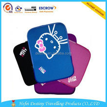 Best selling lightweight colorful teenage laptop sleeve with cat printing