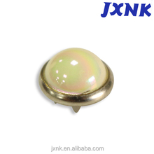 half ball pearlized color white button with wire shank