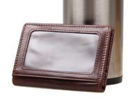 8078C JMD Genuine Leather ID Card Holder, Business Card Holder