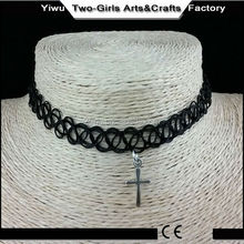 Gif fashion and Accessories economic black tattoo choker necklace with charm