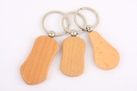 hot sale custom laser logo wooden keycain good gifts use wood key chains