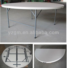 HDPE 180cm Outdoor Round Folding Table Blow Mold,outdoor furniture.