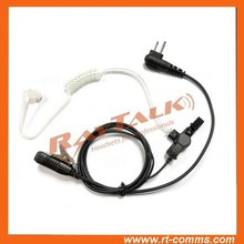 Noise cancelling 2-wire surveillance earpiece with acoustic clear ear tube for Motorola CP040 CP140 CP200 CP1300