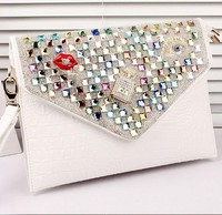 2014 new fashion! crystal clutch bag, oversized envelope clutch