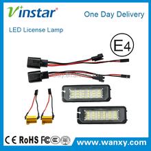 E-mark Canbus LED number plate lamp for golf 5/6/7/Lupo/New Beetle/Passat/Polo/Phaeton/Sedan/Passat 4D
