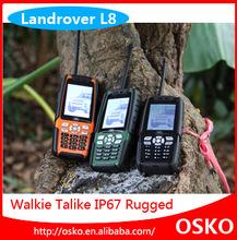 Analog TV Dual SIM Card IP67 Waterproof GSM rugged mobile phone with walkie talkie