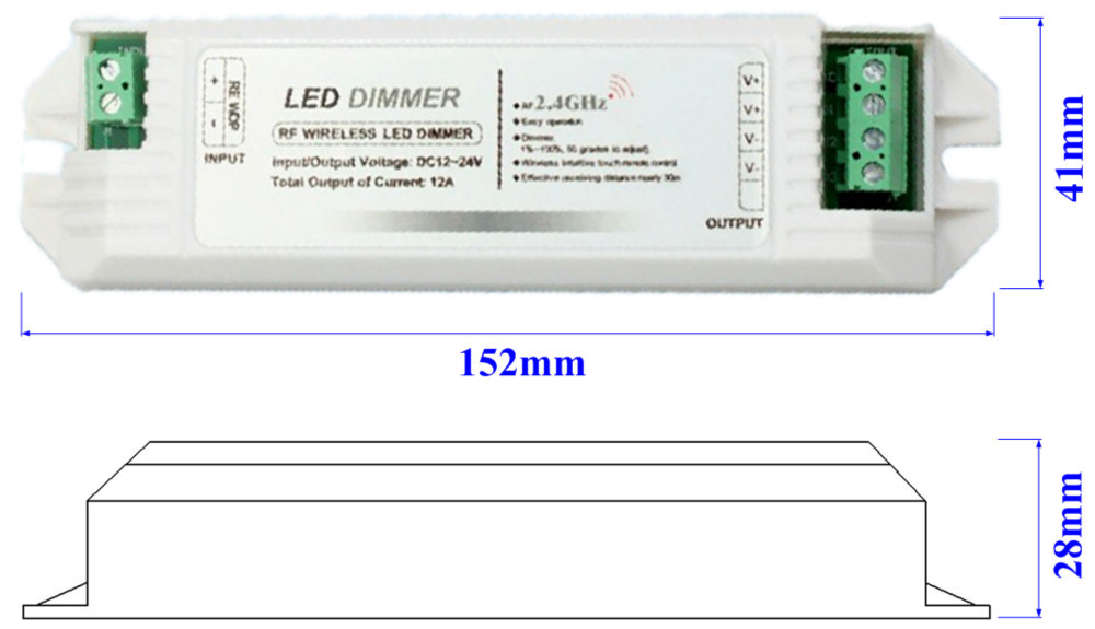 2.4G 4 zone Touch LED dimmer