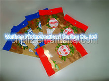 hdpe/ldpe household plastic transparent (colored) flat bag on roll/block for fruit/vegitable/sea food