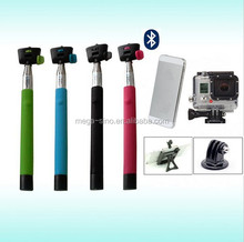 Hot product wireless handheld monopod bluetooth selfie stick for Smart phone and digital camera
