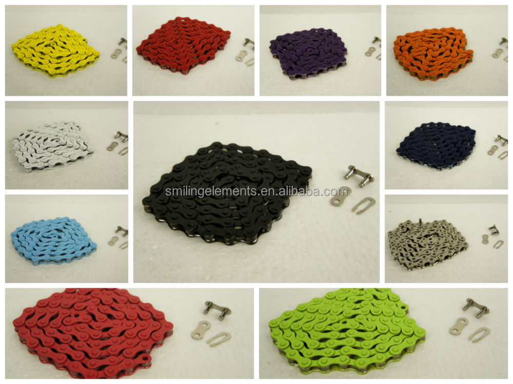 Bike colorful fixed gear bicycle chain