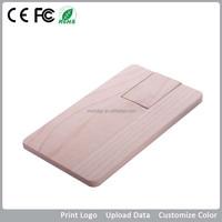 eco friendly wooden card usb flash drive, flat wooden card usb stick, promotional gift card usb memory