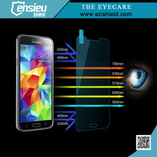 Newest 0.3mm 2.5D 9H Anti Blue Ray Tempered Glass Screen Membrane for Galaxy S5