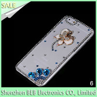 China Supplier Luxury Design Bling Diamond Stone Case For Cell Phone iPhone 6