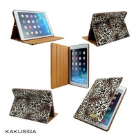 H&H leopard pattern leather case for retina ipad mini with smart function