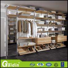 personalizado sencilla armario muebles de dormitorio perfil diseño de aluminio walk in closet