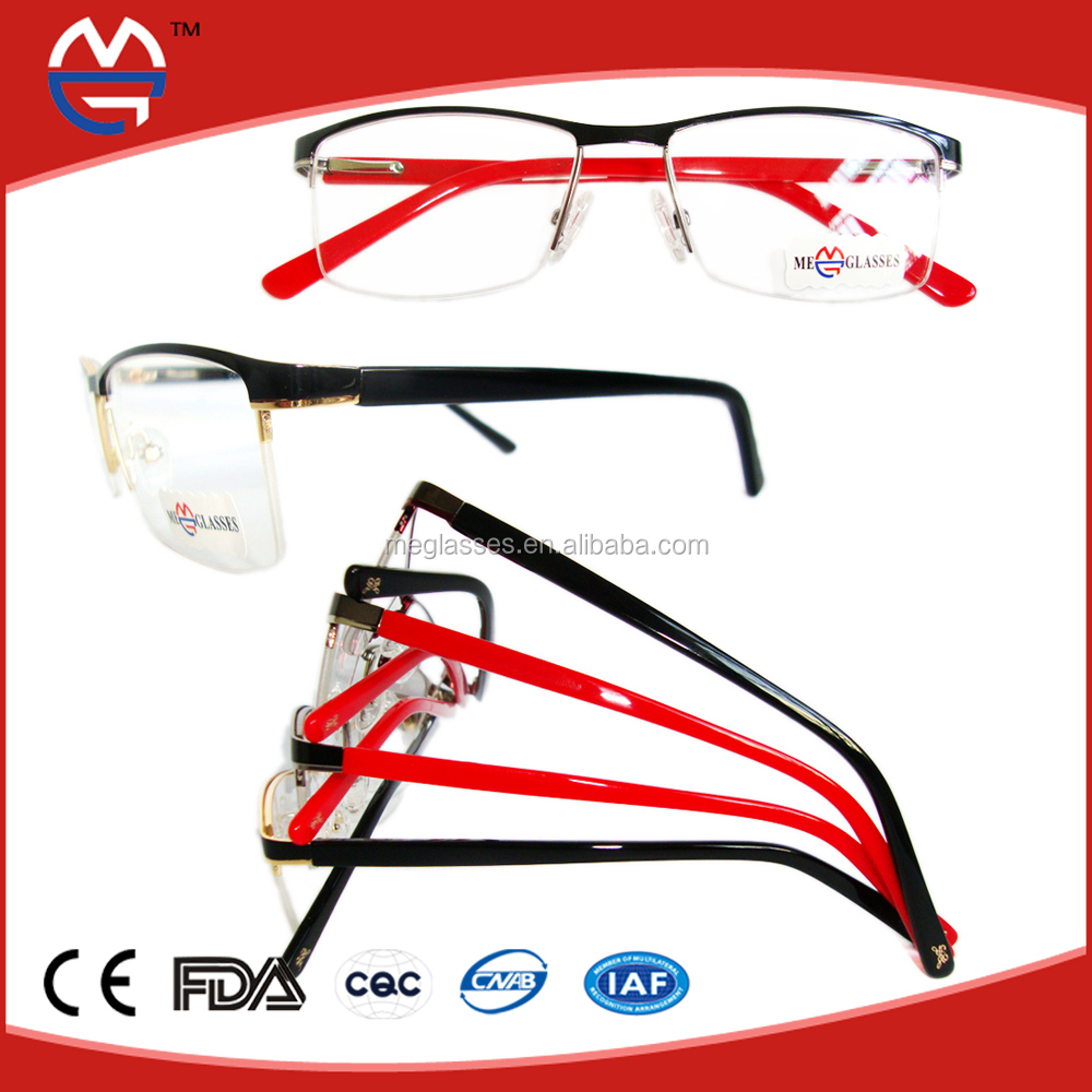 Metal Eyeglass Frame Materials : 2015 Latest Design Metal Frame Material Front With Acetate ...