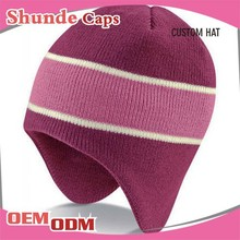 Custom Types Of Winter Hats Knitted Hat With Earflap
