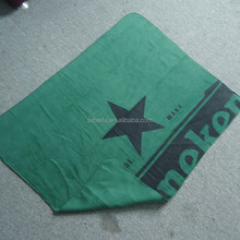 with printed and embroider customized logo polyester fleece branded blanket