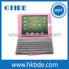 7-8 inch tablet case with wireless bluetooth keyboard and removable clip