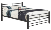 Modern children steel single bed,boy girl tall metal single bed,wrought iron single bed