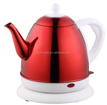 Red stainless steel mini electric kettle