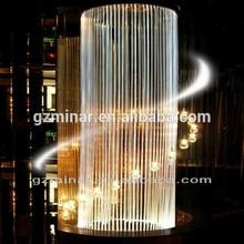 Famosa marca barril de vinho colorido acrílico candelabro de cristal da lâmpada