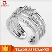 2015 fashionable jewelry China factory directly price 925 sterling silver women ring set
