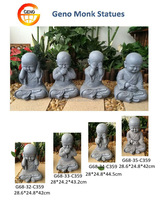 concrete meditating monk statues for garden decoration