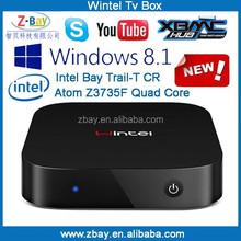 Intel Bay Trail-T CR Atom Z3735F quad core windows mini pc hot new products for 2015