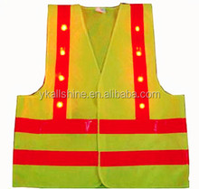 LED safety vest with EN471 and CE Certificates