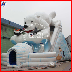 Stock! New finished polar bear giant inflatable slide