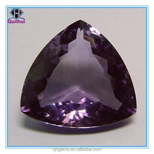 magnetically fat triangle shaped shallow pink cubic zirconia