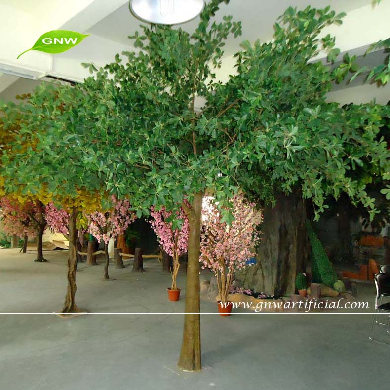 Gnw btr055 evergreen banyan huge artificial tree plastic for Arbol de hoja perenne para jardin