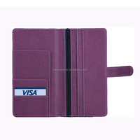 Custom travel leather passport holder, cheap long style pu passport cover