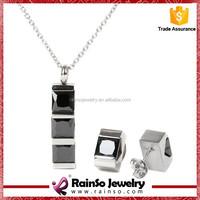 2015 new model jewelry set,women's jewelry set,stainless steel set jewelry
