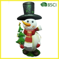 Metal snowman christmas decoration made in china