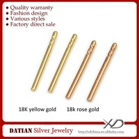 XD K035 18K Gold Ear Studs Real Gold Earrings Pins for Jewelry