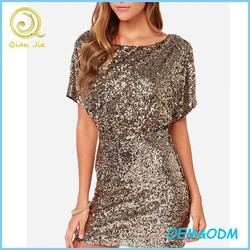 Women Sexy Sequins Slim Fit Hip Wrapped Dress
