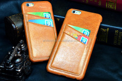 4.7 inch back case for iphone 6, 2015 New arival Head layer cowhide leather case for iPhone 6 case packaging