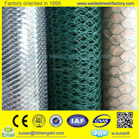 (10 years factory)High quality galvanzied or green pvc coated hexagonal wire mesh