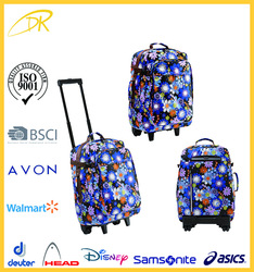 Sedex audit factory USA market trolley bag, student's trolley backpack, small trolley bag