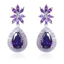 2014 Hot new European and American F.Y.L Micro Pave CZ earrings earrings jewelry manufacturers exaggeration banquet gift