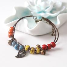 C12251A Birthday Present National Style Couple Bell Bracelets